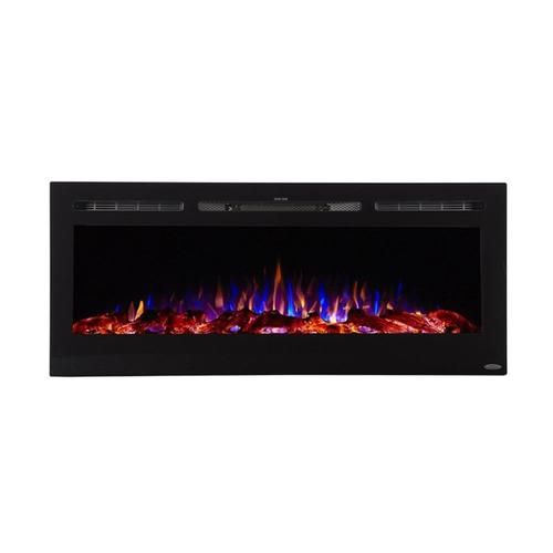 Touchstone50 4 In W Black Fan Forced Electric Fireplace Electric