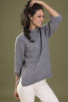 Confidence Pullover in Tahki Yarns Zona | Knitting Patterns | LoveKnitting