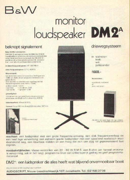 B&W DM2A (nu met pics):