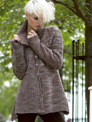 Knitting Patterns For Winter Jackets : Liwen+Jacket+from++by+Liwen+Jacket+at+KnittingFever.com knitting Pinteres...