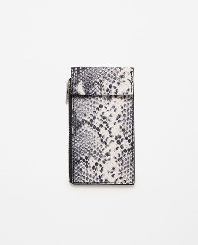 ZARA - WOMAN - MOBILE PHONE COVER WITH BUSINESS CARD HOLDER