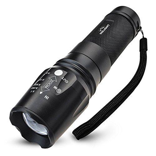 HIILIGHT LED Taschenlampe 2000 CREE XM-L T6 Schwarz HIILIGHT…