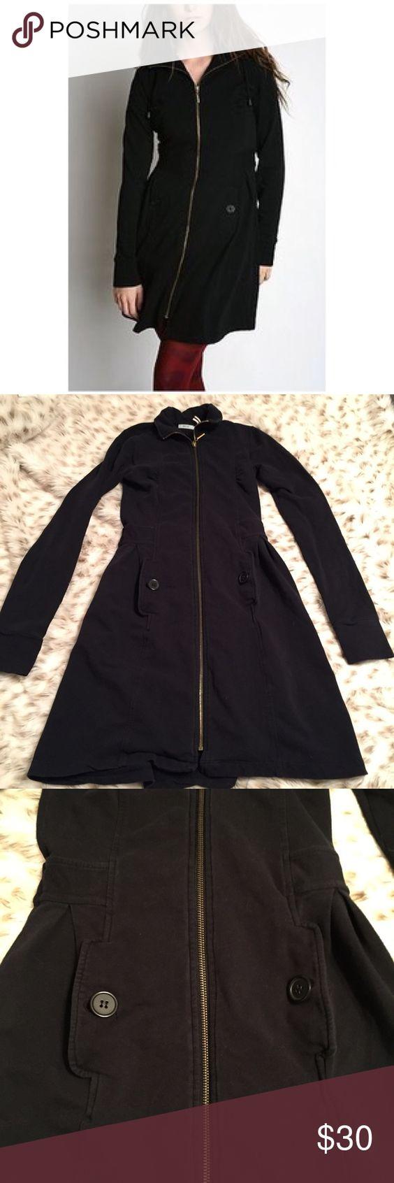 Kimchi Blue Zipper Black Trench Coat   Coats Blues and Urban