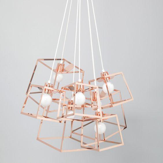 Iacoli & McAllister Frame Cluster Pendant Light: