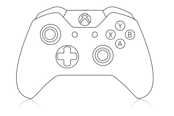 Xbox One Controller Sketch Coloring Page Xbox One Controller Xbox Valentines Xbox Party