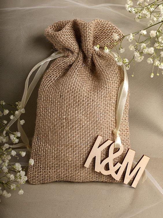 Natural Rustic Burlap Wedding Favor Bag  Wedding by DecorisWedding