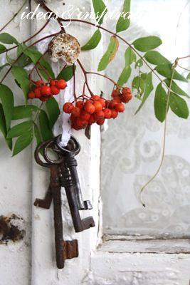 Old keys and berries...