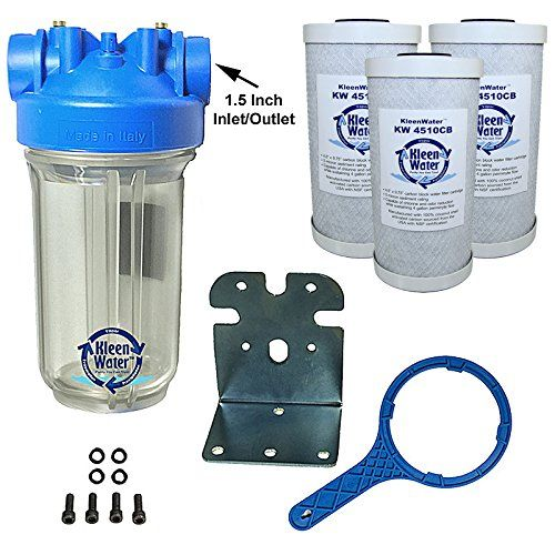 Kleenwater Premier Chlorine Whole House Water Filter System Carbon Block Filters Set Of 3 Whole House Water Filter Home Water Filtration Water Filters System