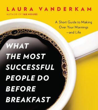 A short guide to making over your mornings. What the most successful people do before breakfast by Laura Vanderkam. Best self help book