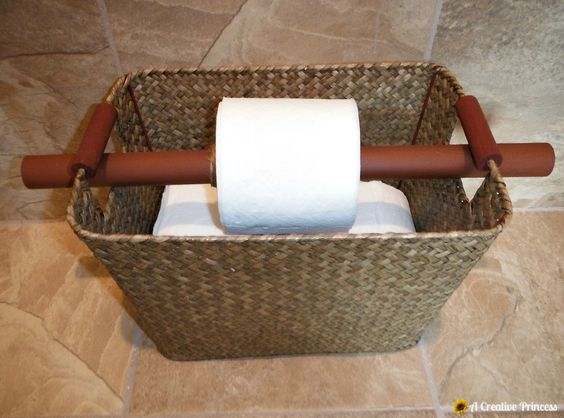 A Creative Princess Toilet Paper Holder Storage And
