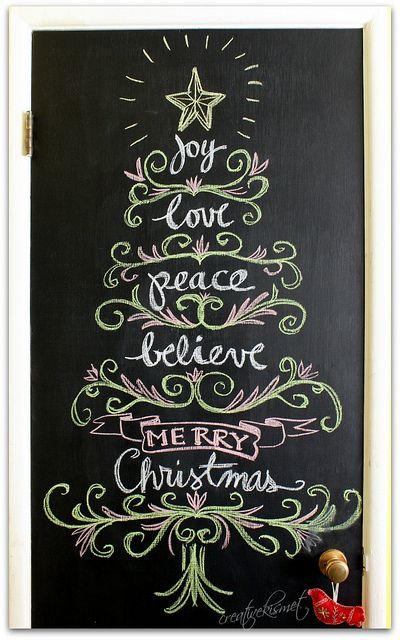 Un muro de pintura de pizarrón en casa no debe faltar, puedes dibujar o escribir de acuerdo a cada época del año.