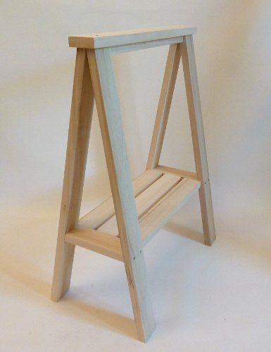 Escritorio con caballetes tabla en madera maciza de alamo - Caballetes para tableros ...