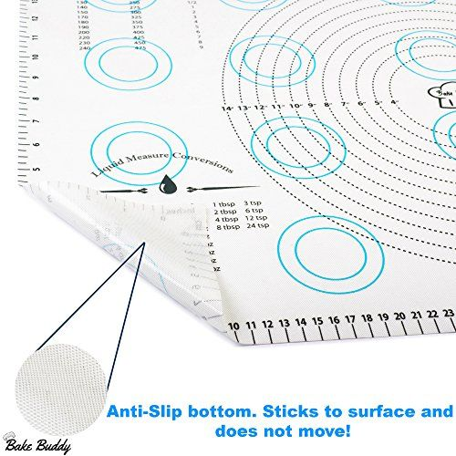 Silicone Pastry Mat Countertop Protector And Bonus Reusable