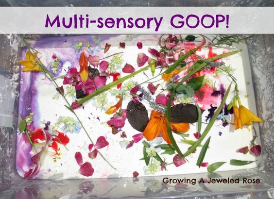 Multi-sensory GOOP! Looks nasty but I'm sure my kids would LOVE it!