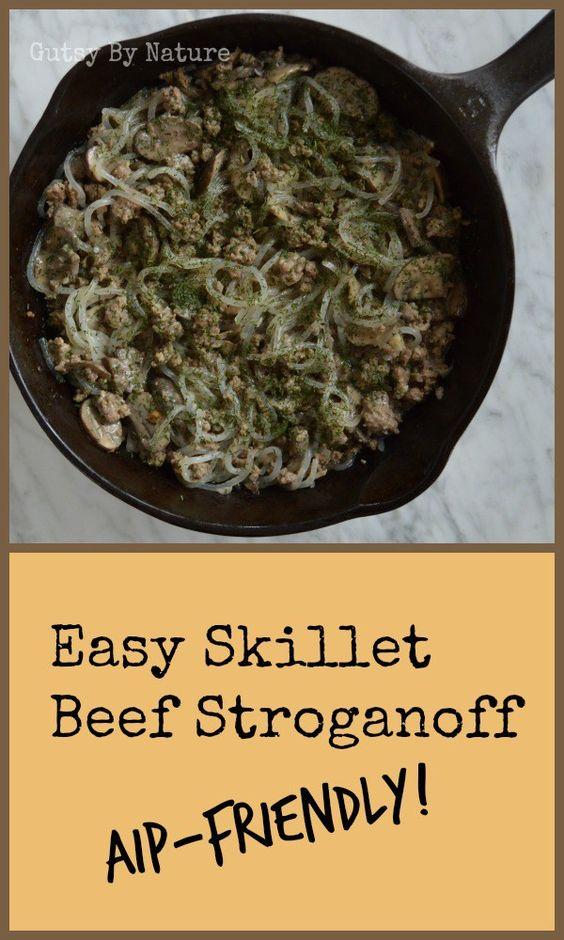 easy skillet beef stroganoff