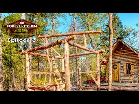 28 Working Solo The Forest Kitchen Off Grid Log Cabin Build Ep 2 S1 Youtube Cabin Log Cabin Traditional Building