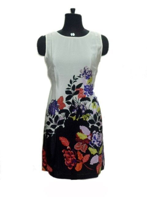Floral Printed Western top Stylish Adorable Casual Wear Tunic dress #YashKurties #Western #Casual
