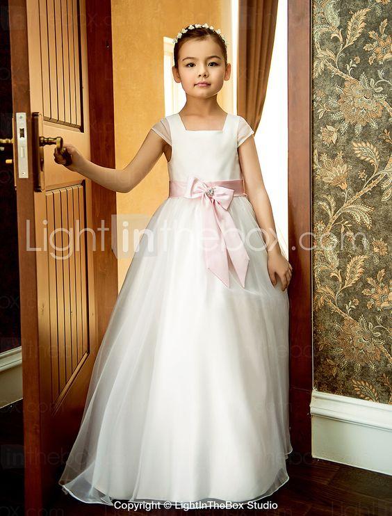 A-line Platz knöchellangen Oganza Hochzeit / Party Blumenmädchen Kleid (weitere Farben) - EUR € 59.99