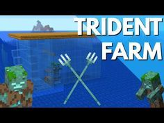 How To Make A Xp Farm In Minecraft Bedrock Minecraft How To Make A Trident Farm In Update Aquatic 1 13 1 Drowned Farm Tutorial By Avomance Youtu Minecraft Blueprints Minecraft Farm Minecraft Redstone