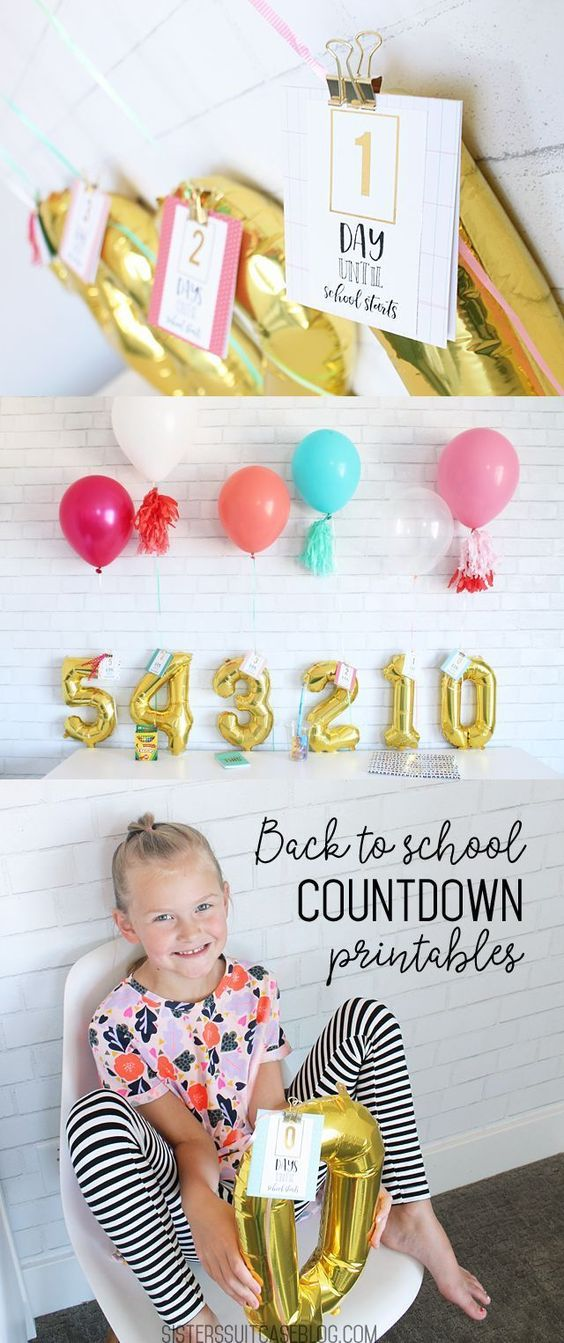 Back to School Countdown Printables - My Sister's Suitcase - Packed with Creativity