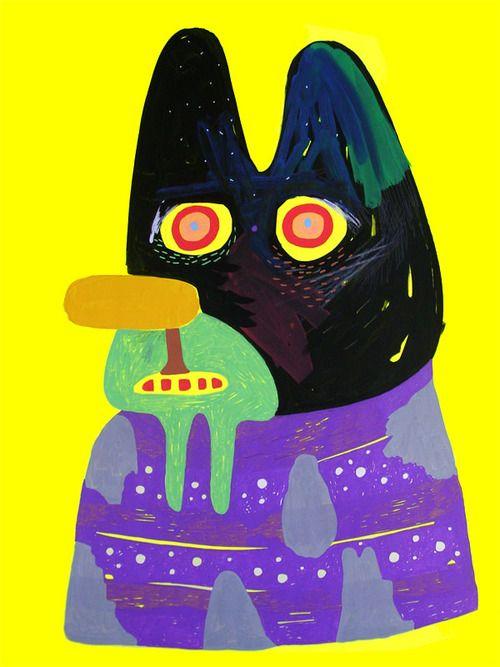 miopop-up (eric malaterre & stéphanie cavaglia) •  2011  18/27  dessins | 40x50cm / papier fluo + feutre acrylique + mine de plomb + crayon de couleurs