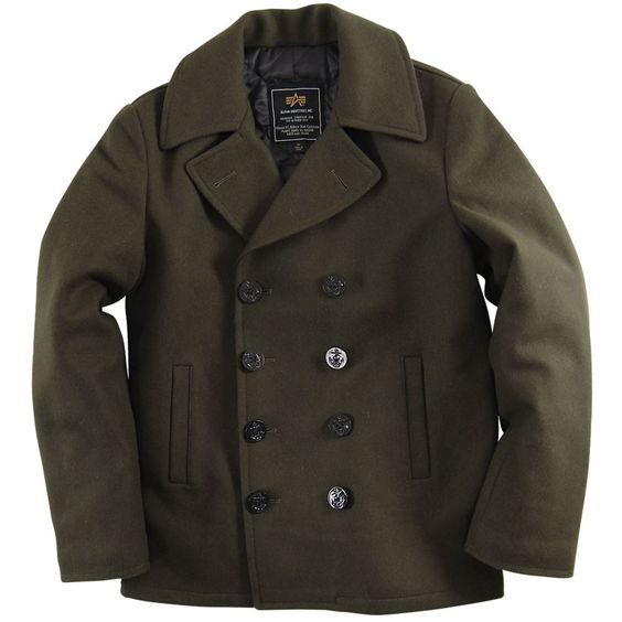 Alpha Industries Ensign Pea Coat | Style Dreams | Pinterest