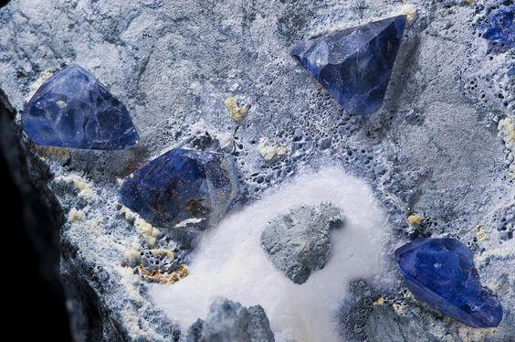 Gemstone: Benitoite is a rare blue barium titanium silicate mineral