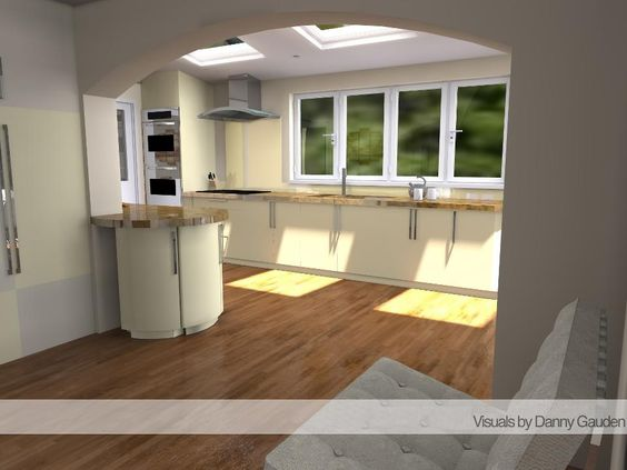 Kitchen designs design and kitchens on pinterest for Kitchen designs sketchup