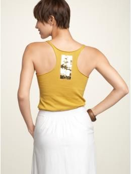 embroidered racerback sweater tank