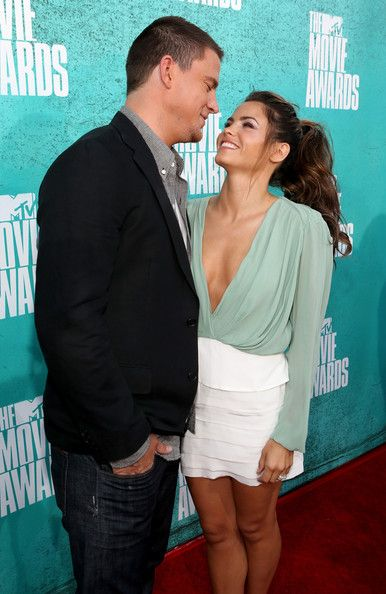 Channing and Jenna TOO CUTE & Jenna looks unbelievable!