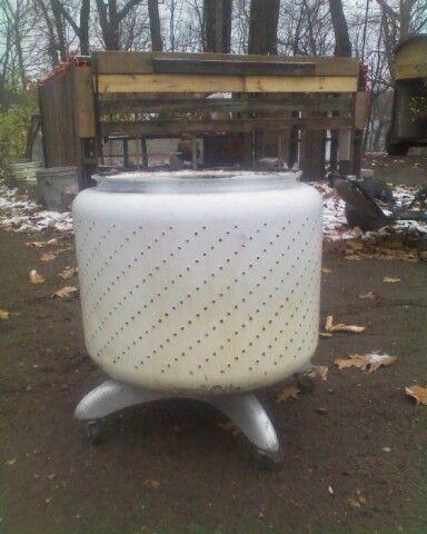 wash machine tub pit