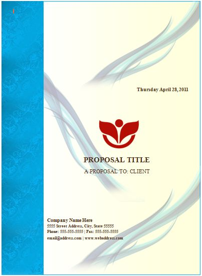 Word Documentation Cover Page Template Sponsorship