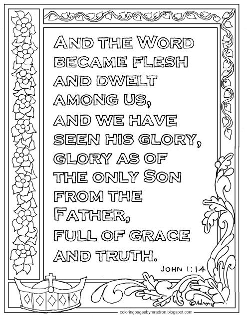 John 1 14 Print And Color Page The Word Became Flesh Bible Verse