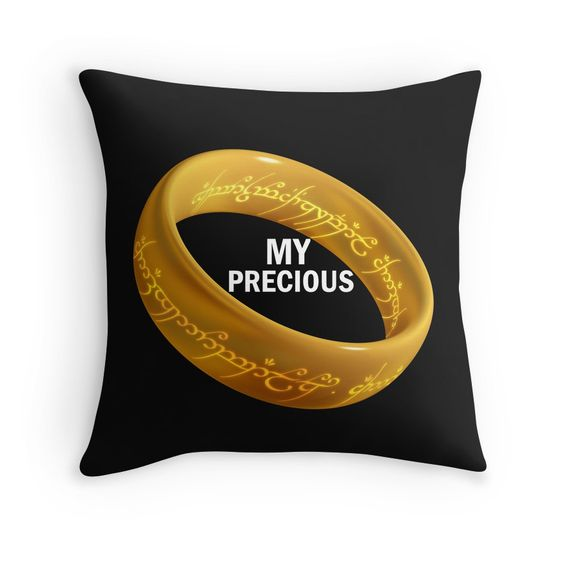 """""""MY PRECIOUS"""" Throw Pillows by Divertions 