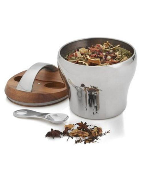 Nambé 'Bulbo' Tea Canister & Scoop