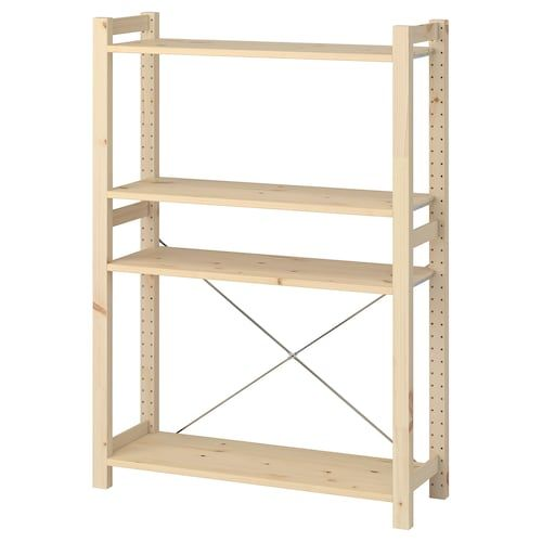 Ivar 2 Section Shelving Unit Pine 68 1 2x11 3 4x48 7 8 In 2020 Ikea Shelving Unit Shelving Unit Ikea Ivar