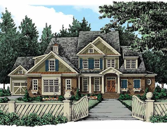 Eplans New American House Plan Four Bedroom New American