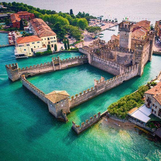 Rocca Scaligera Castle in Sirmione, Garda Lake, Brescia province, Lombardy - Italy