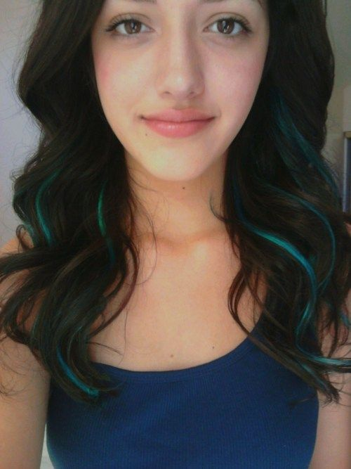 teal highlights! Want this just maybe only one or two streaks