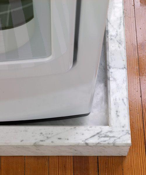 Pretty And Practical Laundry Room Redo In 2020 Bathroom Closet Small Washing Machine Washing Machine In Kitchen