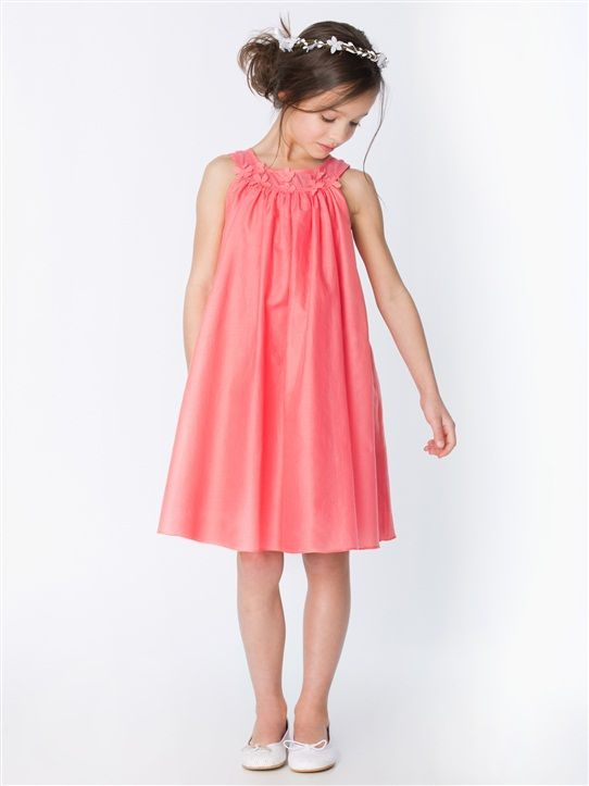 robe collier demoiselle d 39 honneur corail les enfants pinterest. Black Bedroom Furniture Sets. Home Design Ideas