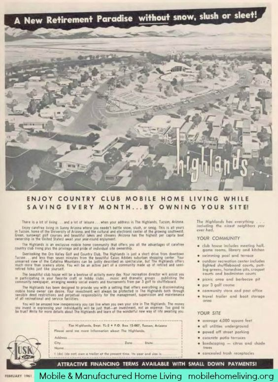 1961 community sales. Can you imagine all those trailers and mobile homes filled with artists. We'd all work the creative live and get our supplies at that place in the middle or order online. I'm in.