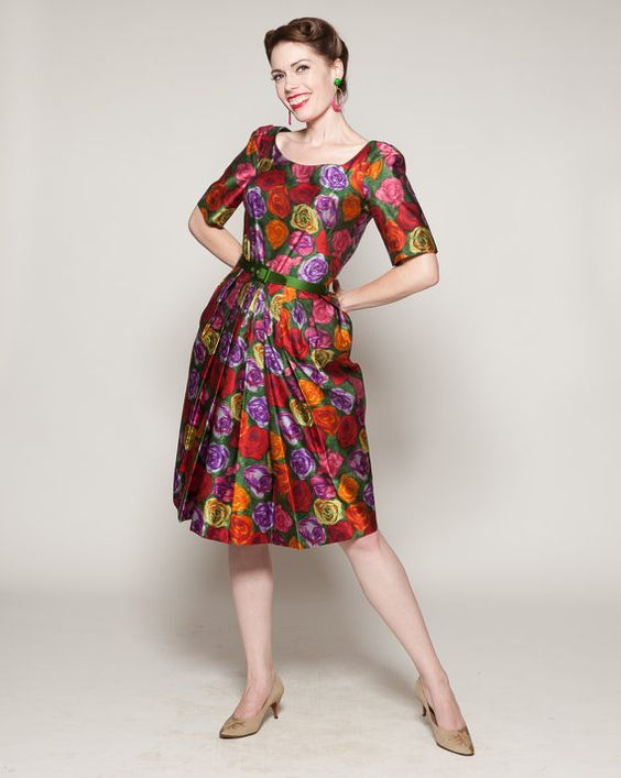 Vintage 1960s Dress #vintage #1960s #madmen #dress #floral #budkilpatrick #springfashions @Etsy