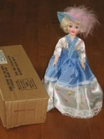 Blue Bonnet Southern Belle Vintage Plastic Doll: