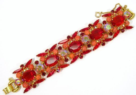 Juliana DeLizza & Elster RARE Siam Red Bracelet
