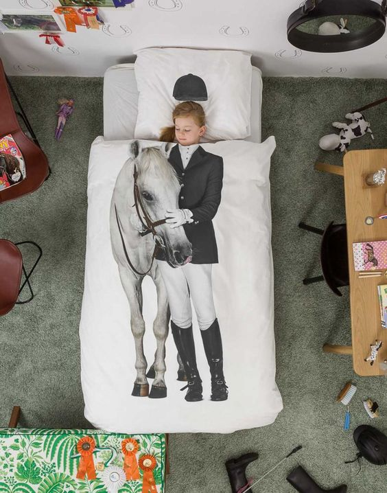 Little Equestrienne Sheets! How cool is this? Love, love love!: