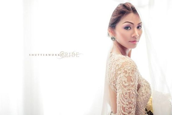 bride janeth in jazel sy gown. :) hair and makeup by karen soriano :) photo by: shutterworks. thank you again janeth and karen.. :)
