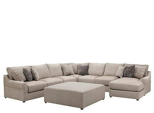 Hartsdale 5 Pc Sectional Sofa W Cocktail Ottoman Sectional Sofa