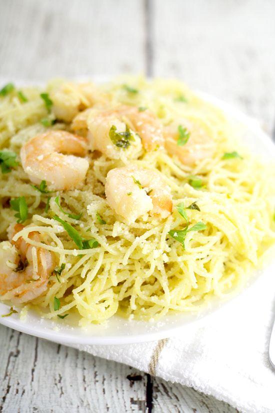 Garlic parmesan shrimp, Angel hair and Shrimp on Pinterest
