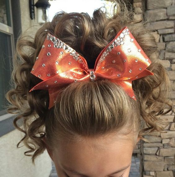 hair bow styles cheer poof cheer hair cheer curls and 4564